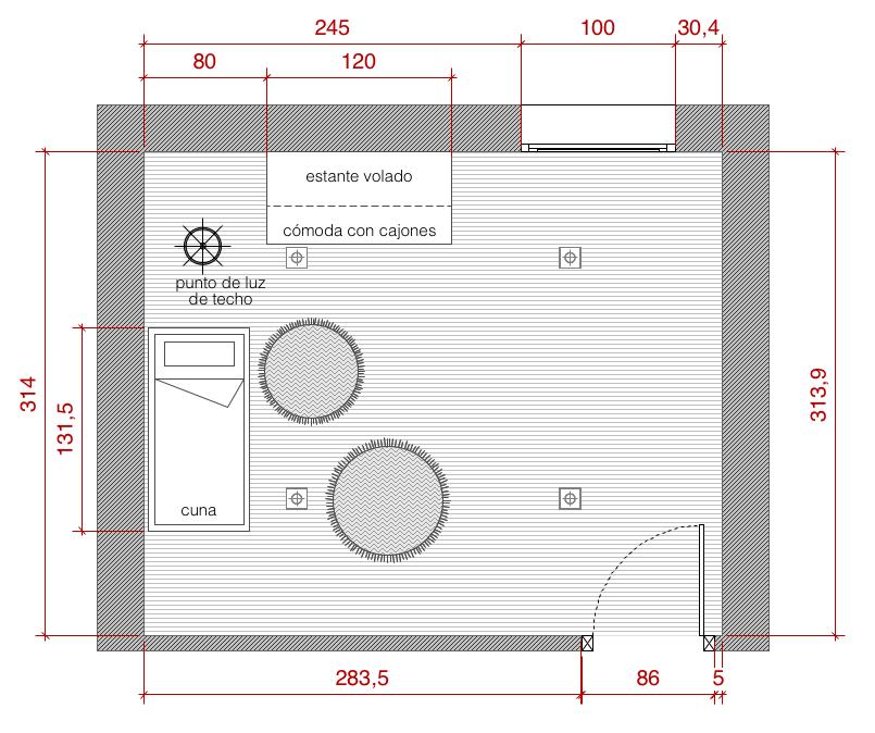 Plano de planta de distribuci n acotado del proyecto de for Guia mecanica de cocina pdf