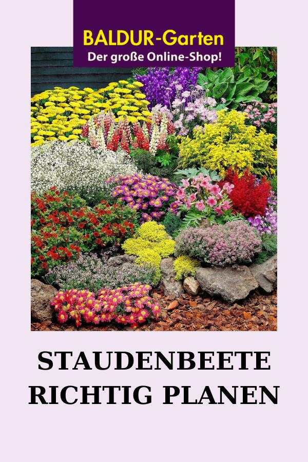 Staudenbeete Planen Anlegen Baldur Gartenblog Staudenbeet Staudengarten Pflanzen