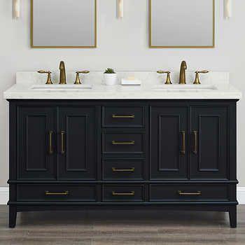 Parker Midnight 60 Inch Double Sink Vanity In 2019 Vanity Sink Master Bathroom Vanity Double Sink Vanity