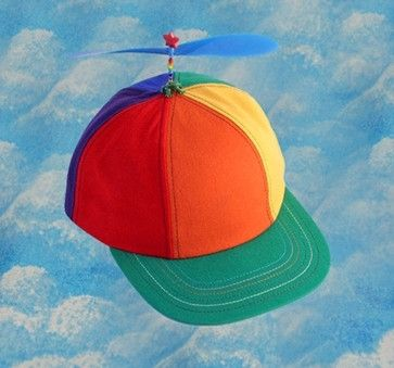 839d2bde537 Adult Multi-Colored Propeller Hat With Brim (no patch)