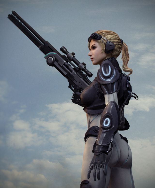 Ghost Nova Picture (3d, sci-fi, character, soldier, girl ...