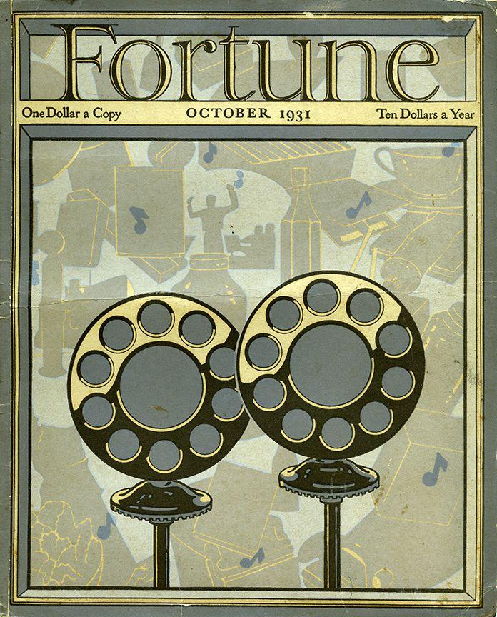 Fortune magazine cover, October 1931.