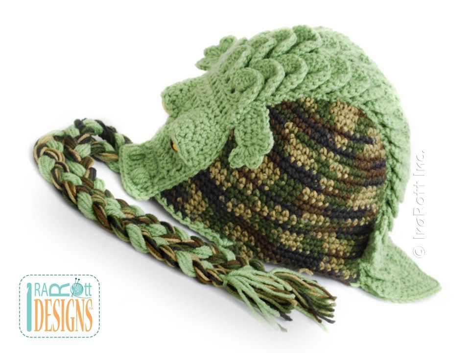 Crocodile animal hat Crochet Pattern for babies kids and adults by IraRott 832b17355a8