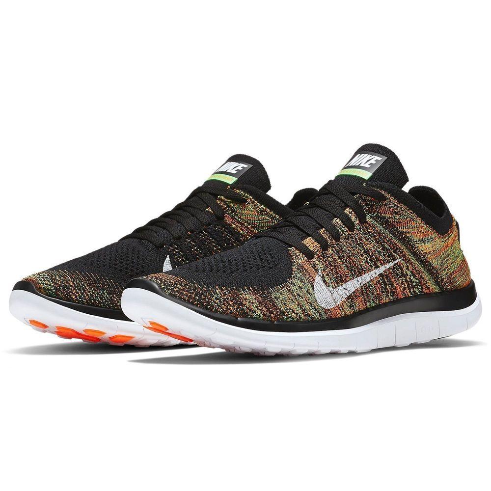 993063d17562 Nike Free 4.0 Flyknit Mens Running Shoes 12 Black Orange Multi-Color 631053  006  Nike  RunningCrossTraining
