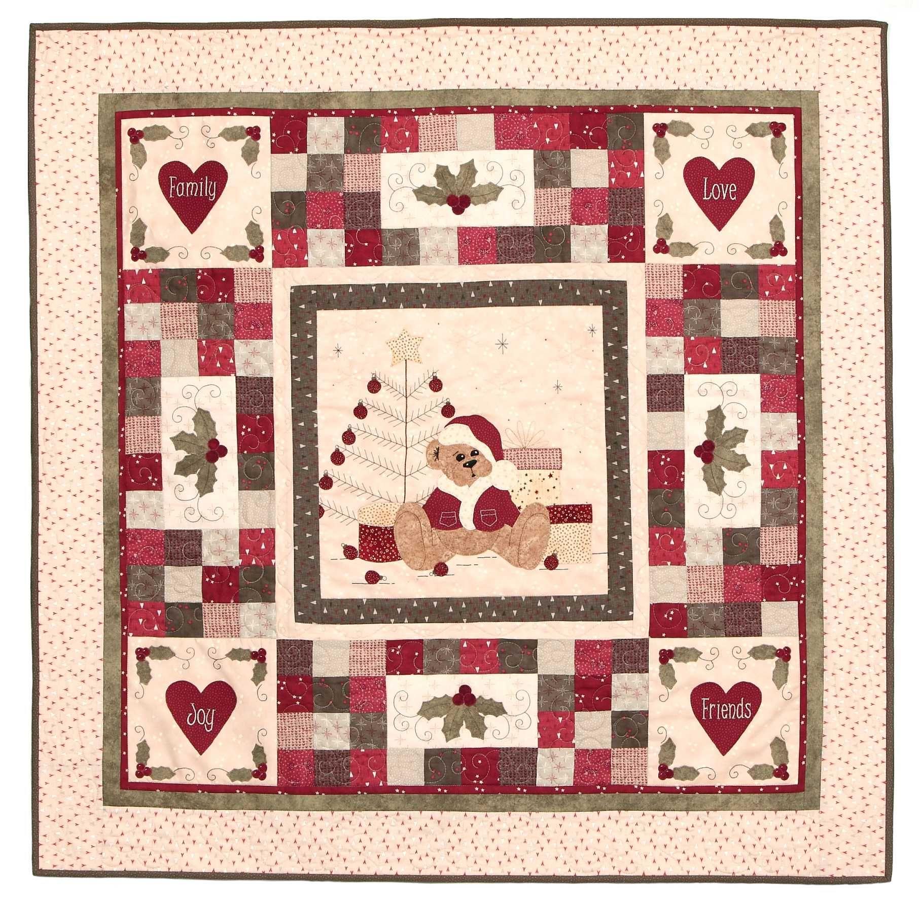 Teddy's first Christmas Quilt pattern | Artsmart Craft Cottage