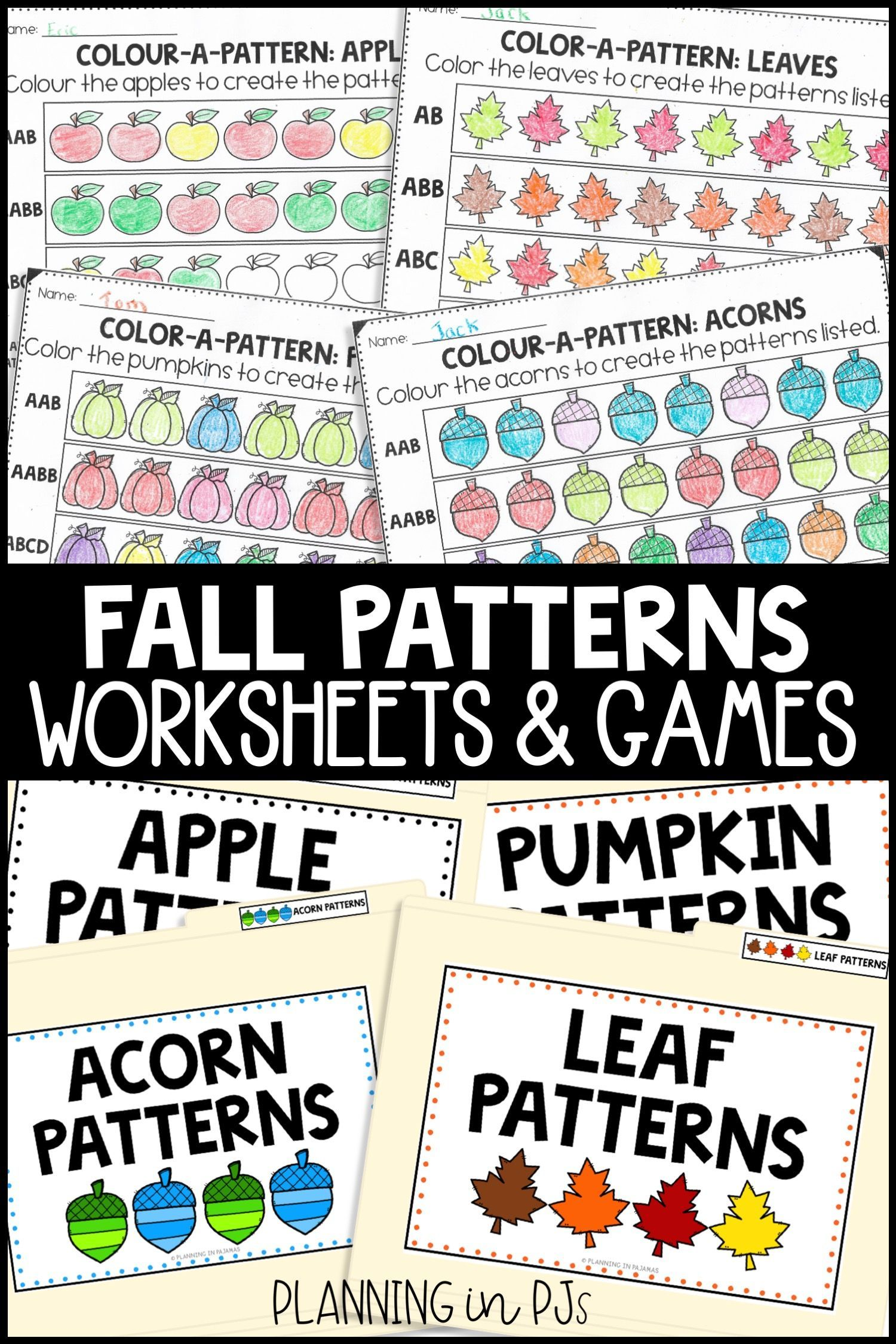 Fall Pattern Activities Bundle