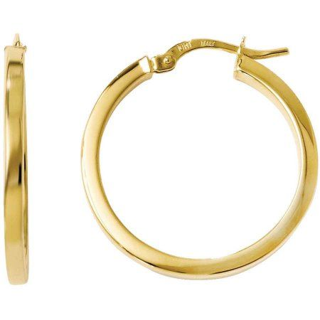 10kt Yellow Gold Polished Hinged Hoop Earrings