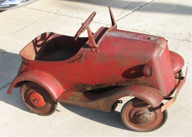 Needs A Little Work Vintage Pedal Cars Pedal Cars Vintage Toys