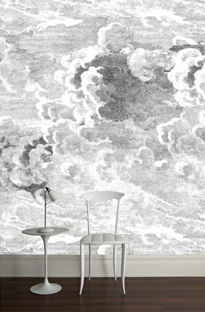 Tapete In Grau   Stilvolle Vorschläge Für Wandgestaltung   Archzine.net |  Wallpaper And Studio