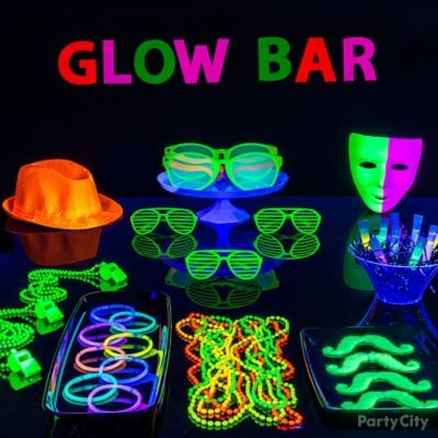 Set Up A Table Of Gear And Glow Sticks Cit Ca