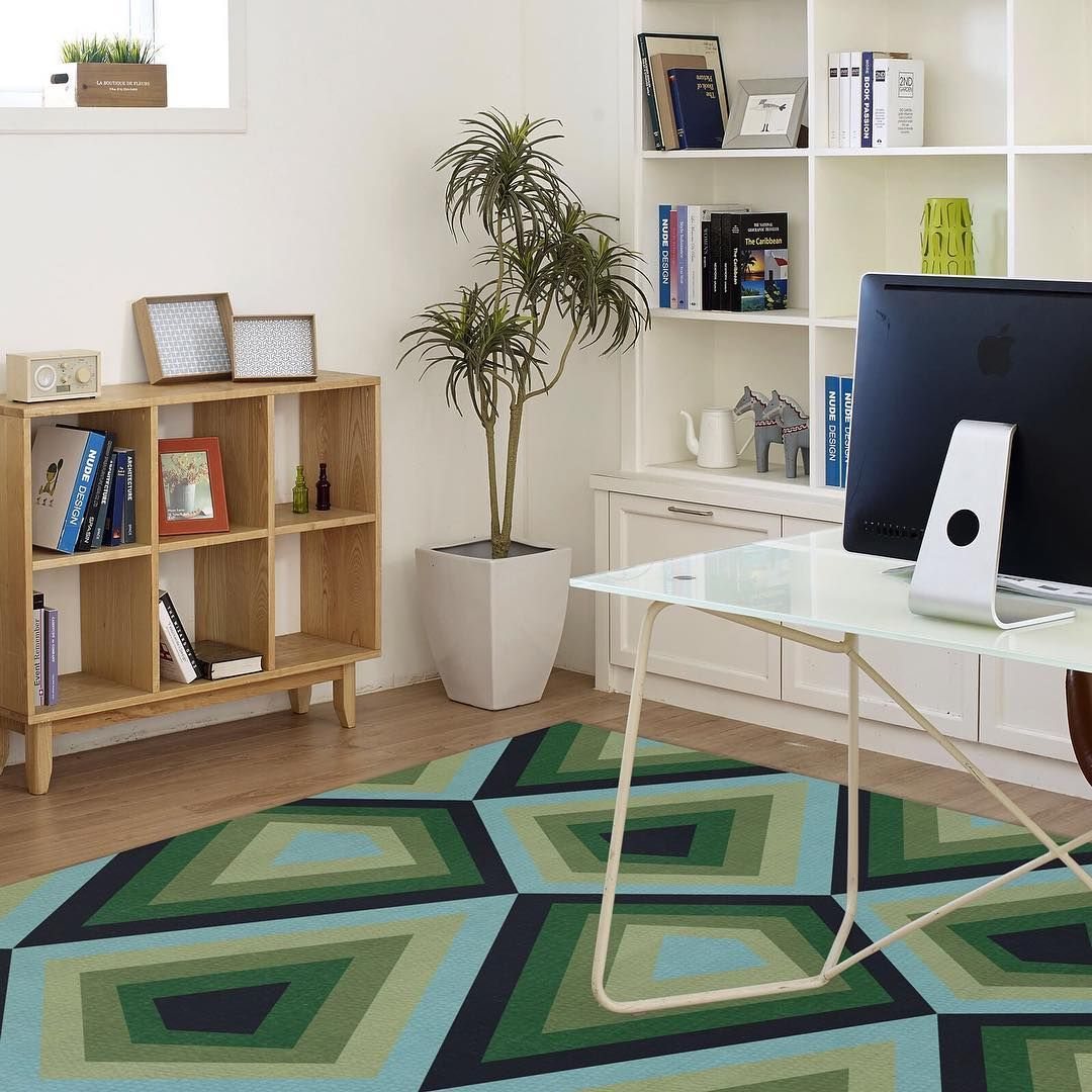 Lucy Tupu Red Rocks In Green As Seen In New York Bedroom Carpet Dye Curtains Rugs