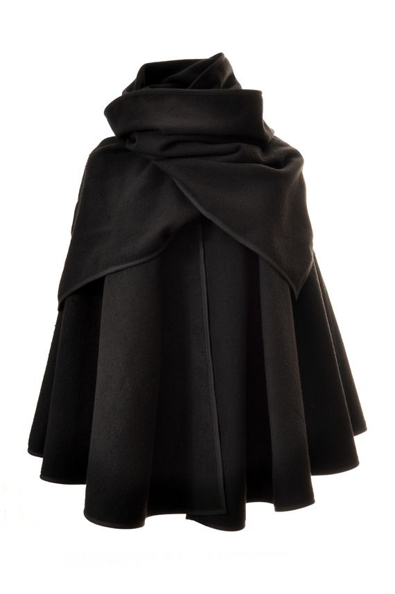CAPE col écharpe BlackPearl en laine noir | Cape Town | Fashion
