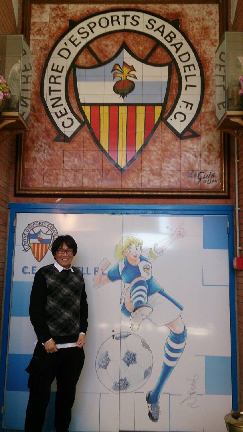 Where is Takahashi Sensei these days? He helped Nankatsu FC to tie a friendly partnership with CE Sabadell FC in Spain!