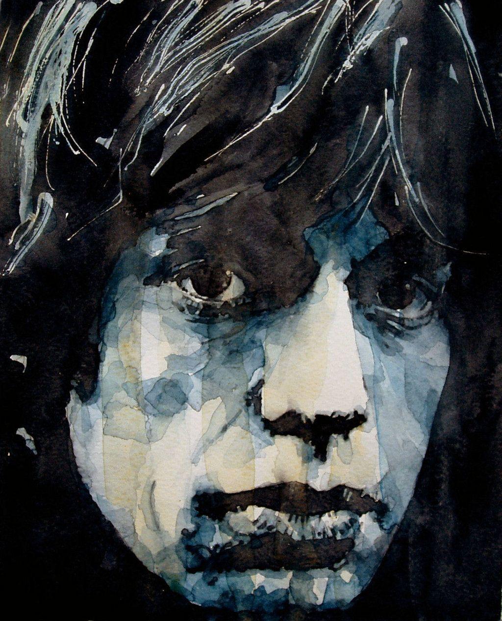Paul Lovering Loveringarts Schilderij Zwart Wit Portret