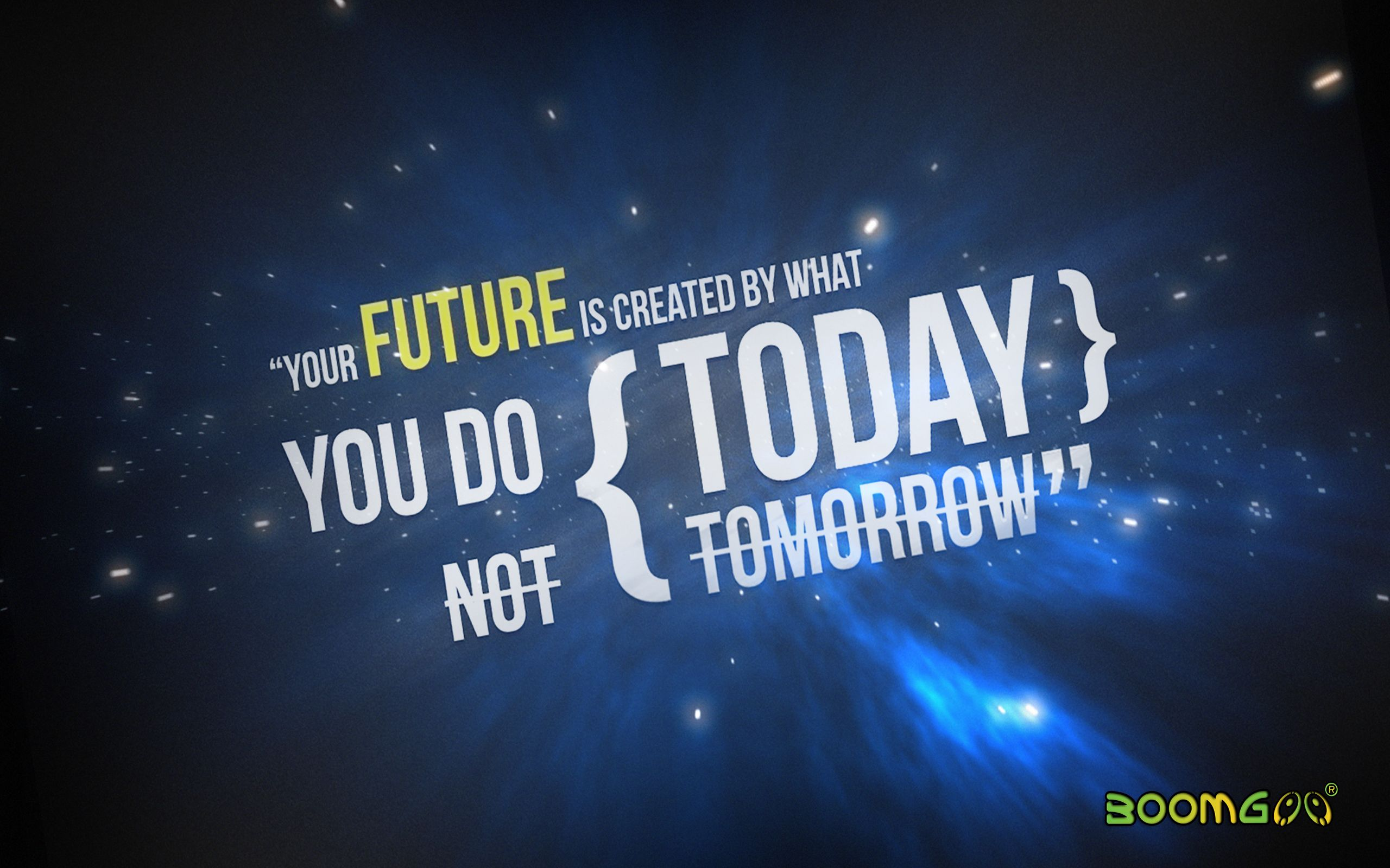 Your Future Is Created By What You Do Today Not Tomorrow Get More