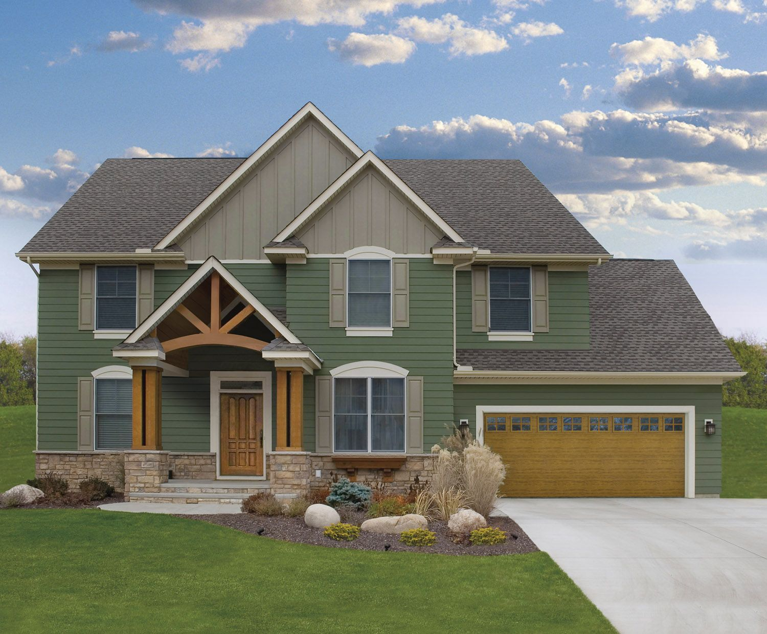 Clopay doors residential garage doors and entry doors clopay cypress collection garage door is simply a classic look that highlights the wooden accents on this house rubansaba