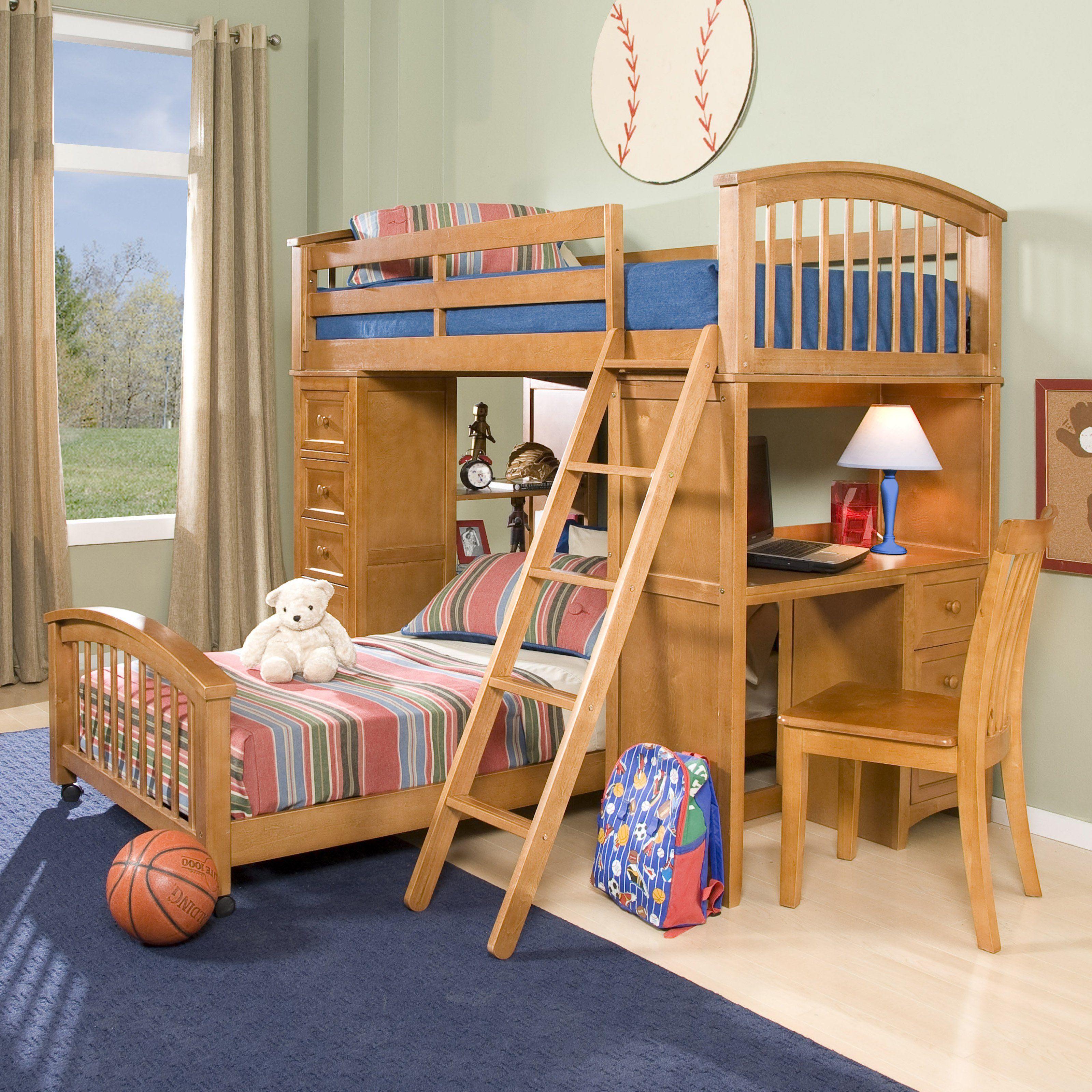 Ne Kids Schoolhouse Student Loft Bed Pecan Www Hayneedle Com Kid Beds With Storage