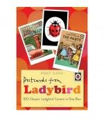 Postcards from Ladybird. Set of 100 postcards from Ladybird, featuring classic Ladybird book cover designs.
