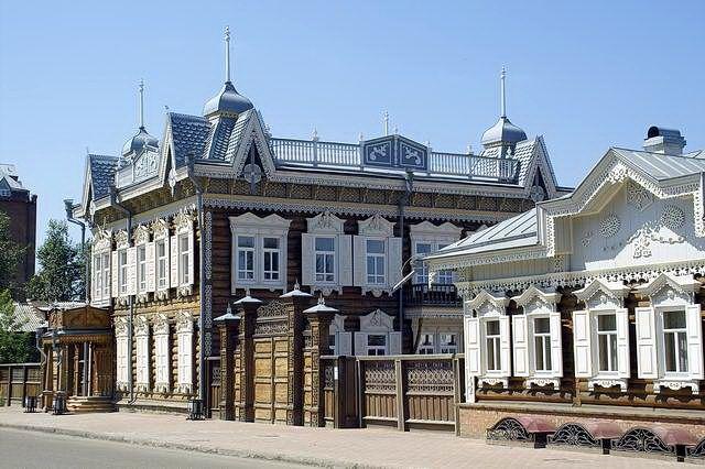 Иркутск, здание на улице Ф.Энгельса Irkutsk, building on F.Engels street