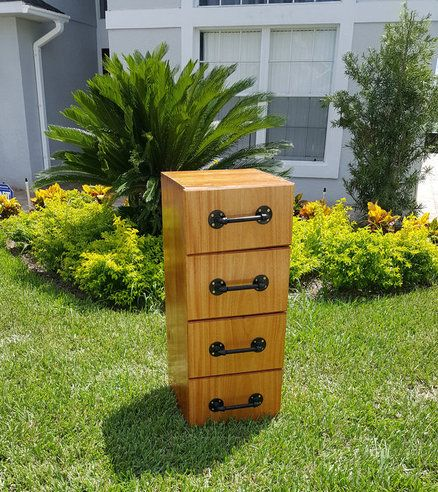 Four Drawer File Cabinet in cherry