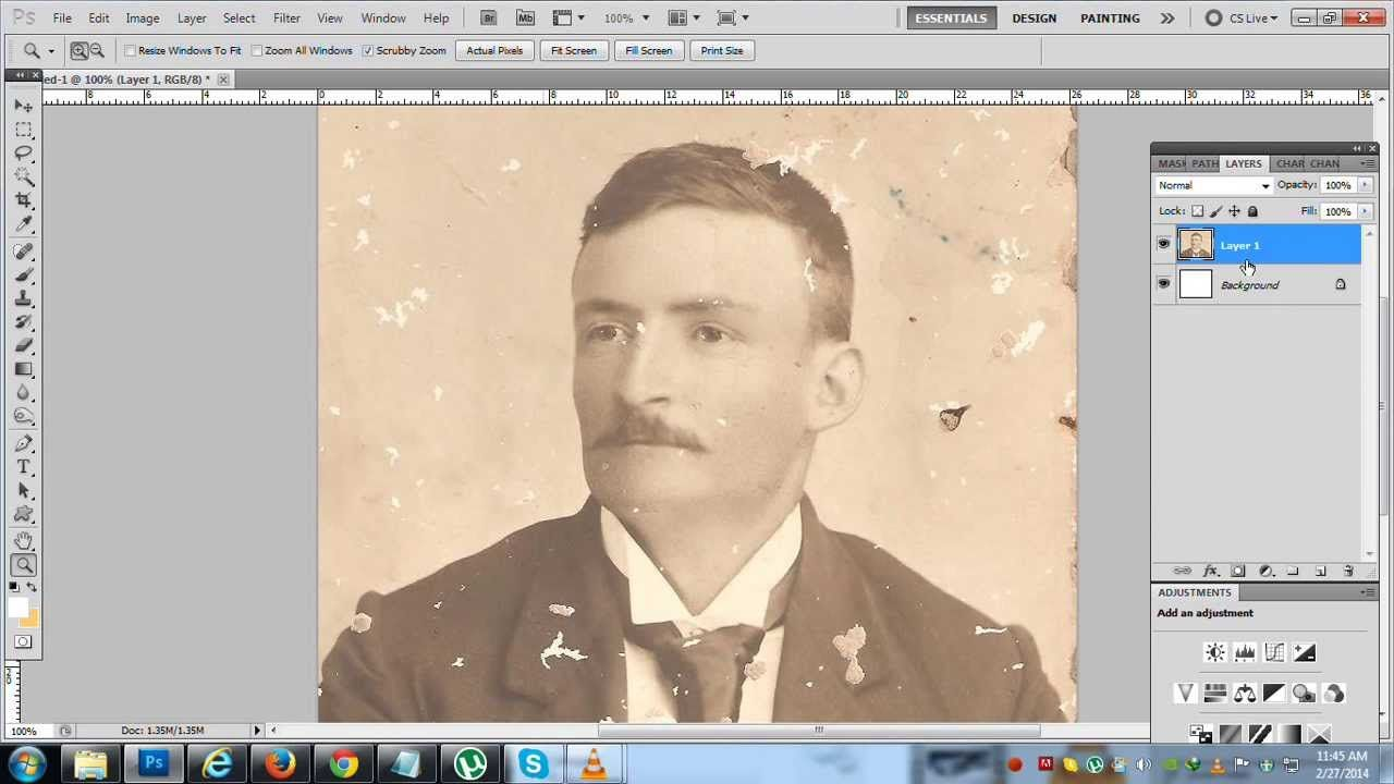 How to fix repair an old or damaged photo in photoshop cs5 this is a cool tutorial on how to restore an old photo using the patch spot healing and clone tool using photoshop baditri Gallery