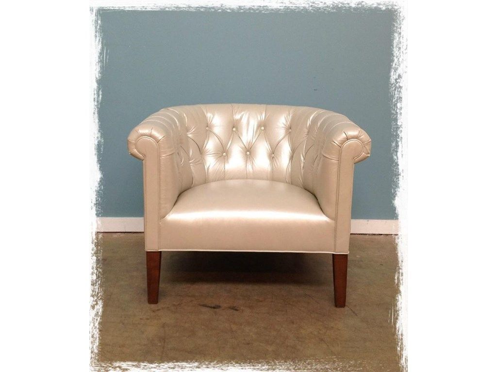 Mitchell Gold + Bob Williams Factory Outlet Living Room Squire Leather  Chair In Parliament  Pearl. At Hickory Furniture Mart And Nationwide At  Hickory ...
