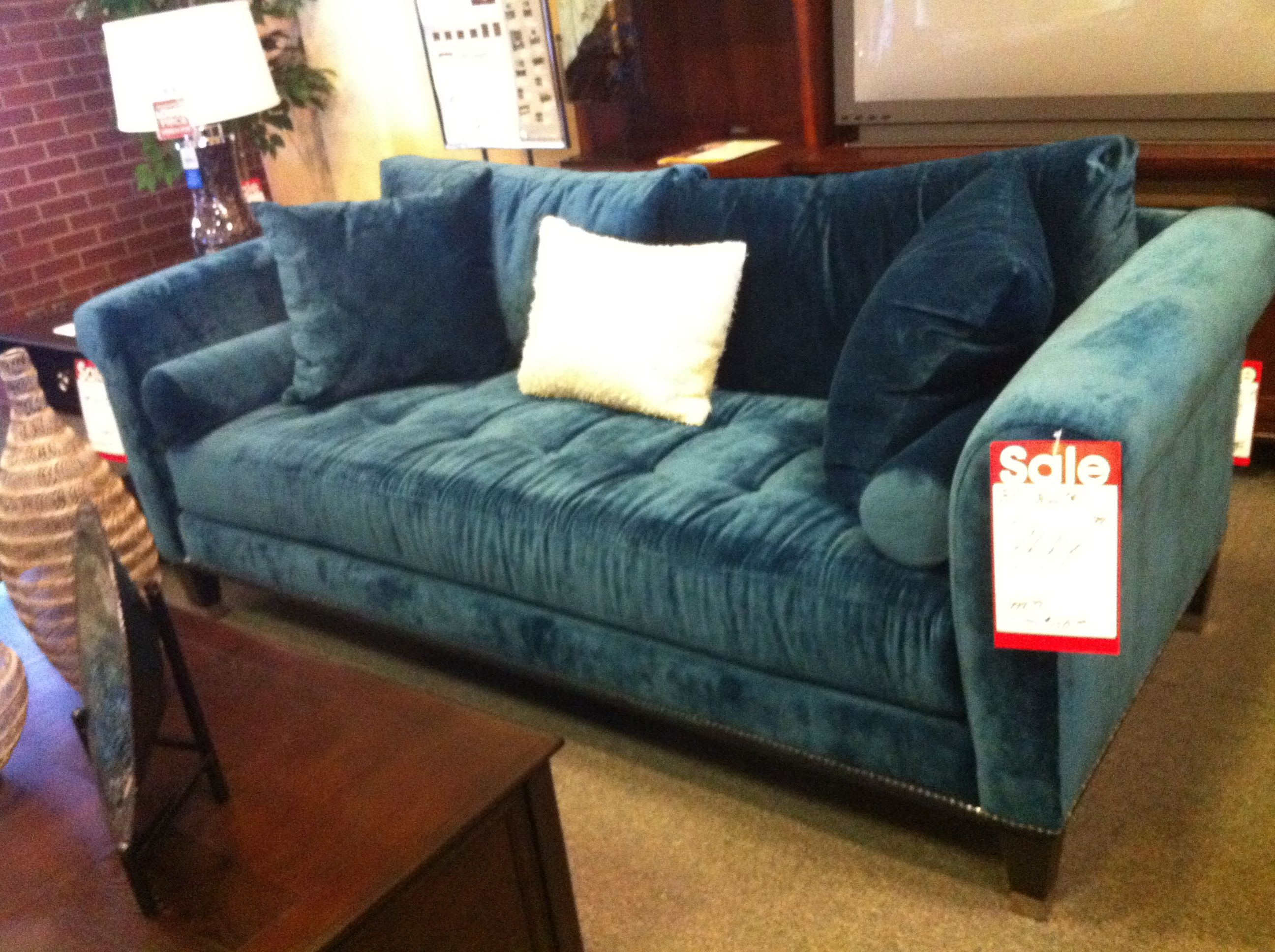 dark teal sofa iron table this is the and velvet chair are