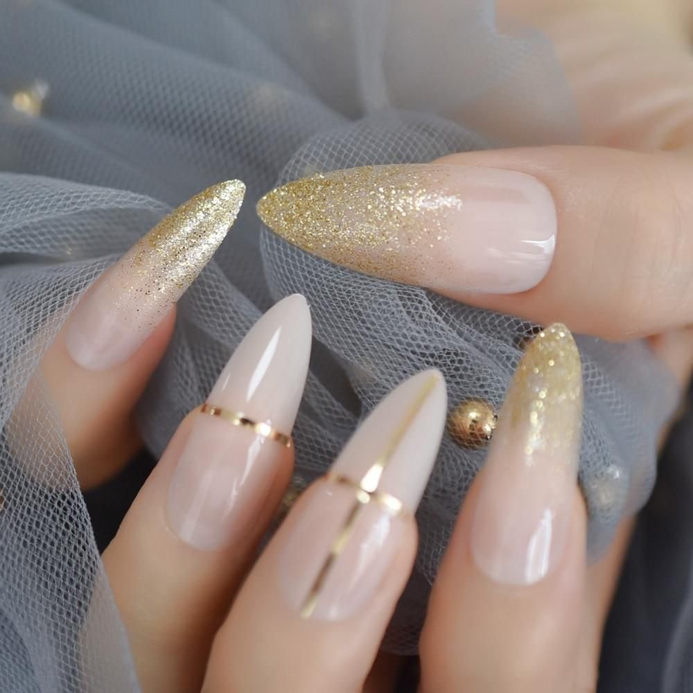 Luxury Extra Long Stiletto Fake Nails Stiletto Nails Almond Acrylic Nails Formal Nails