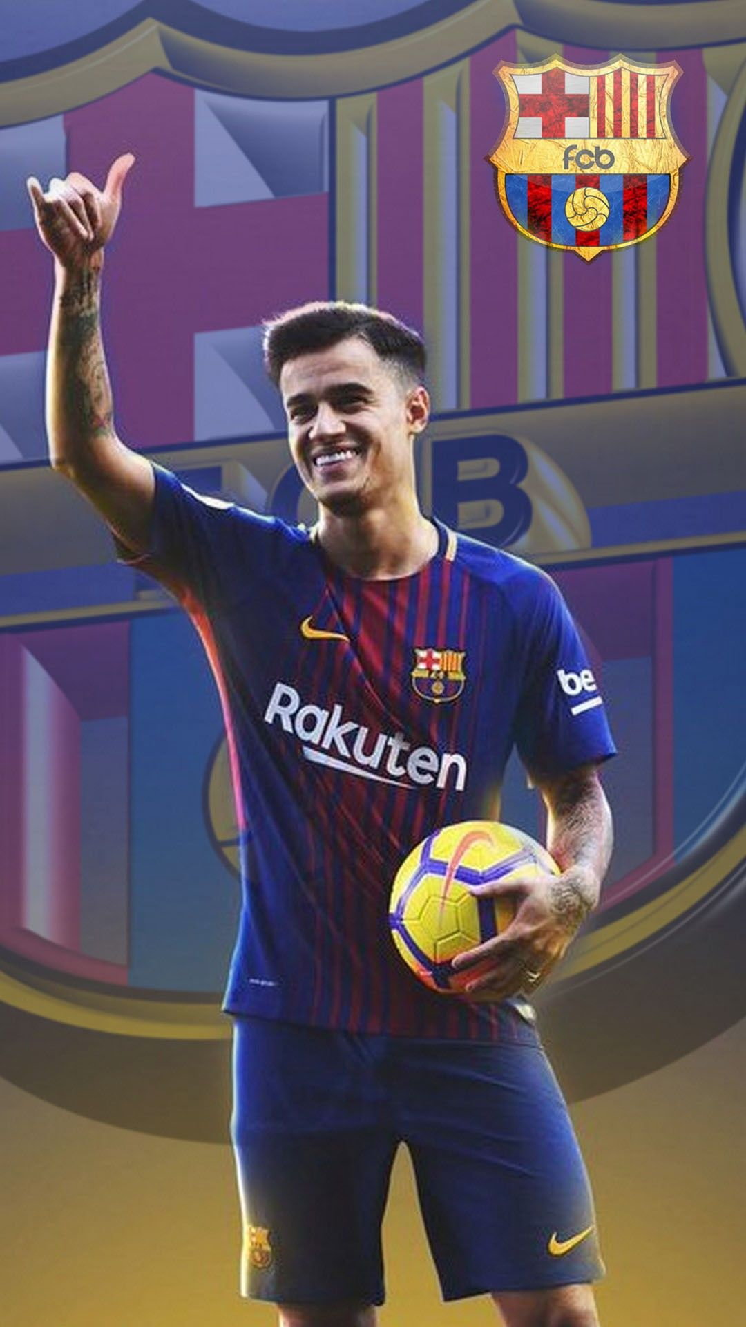 PhoneWallpaper Android Wallpaper Coutinho Barcelona