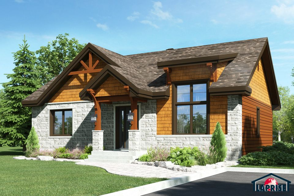 Champêtre, Bordure de lac   Chalet LAP0376 Maison Laprise - liste materiaux construction maison