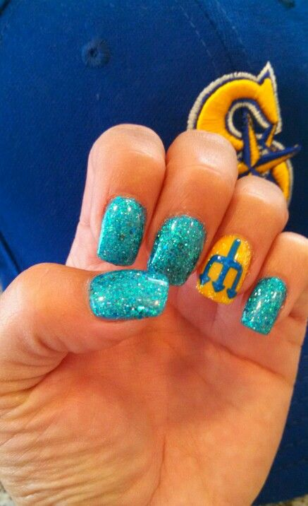 Seattle Mariner Nails | Seattle Mariners. my oh my. | Pinterest ...