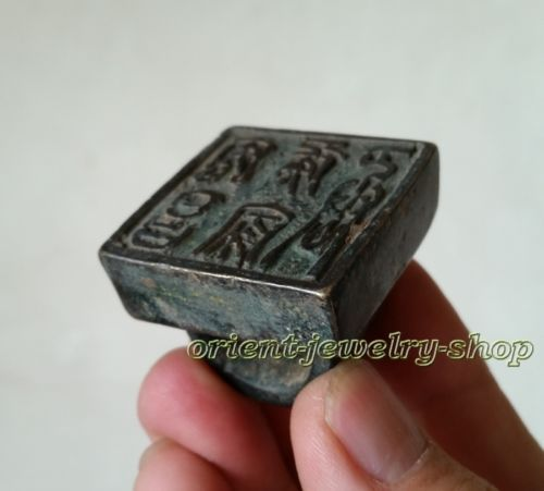 Collectables Famous handwork Signed Dynasty Old Chinese Stamp Rare Bronze Seal