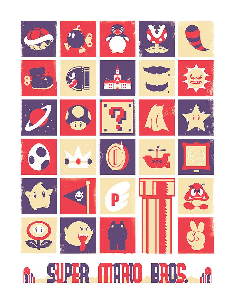 Nintendo Posters made by Jeff Langevin
