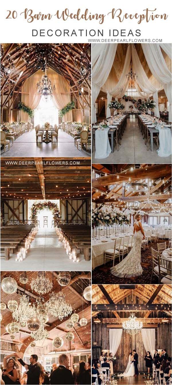 20 Gorgeous Rustic Country Barn Wedding Decoration Ideas #barnweddings