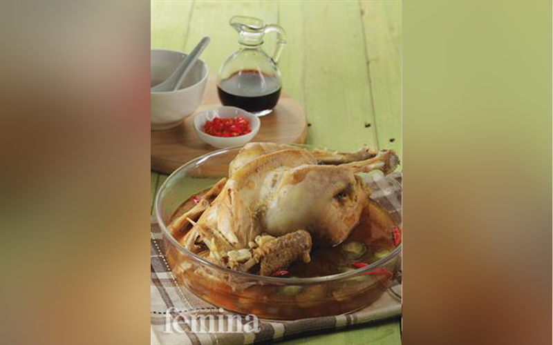 Ayam Kukus Sawi Asin Resep Ayam Resep Ayam