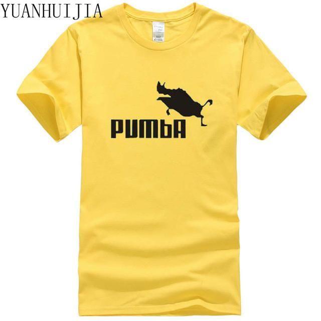 81c978f50 Men's T-shirt Pumba men women 100% cotton cool tshirt lovely kawaii summer  jersey costume t-shirt