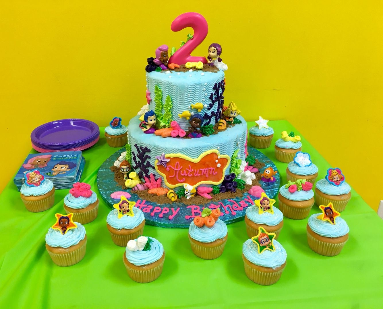 My daughters 2nd birthday Bubble Guppies cake turned out awesome!