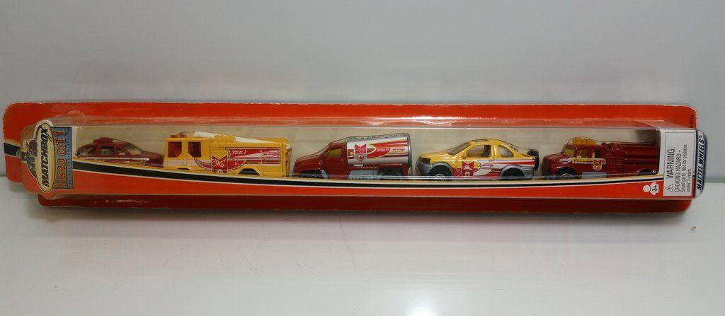 2002 Matchbox Hero City 5 Pack Tube Fire Emergency Vehicles In 2020 Emergency Vehicles Matchbox Diecast Cars