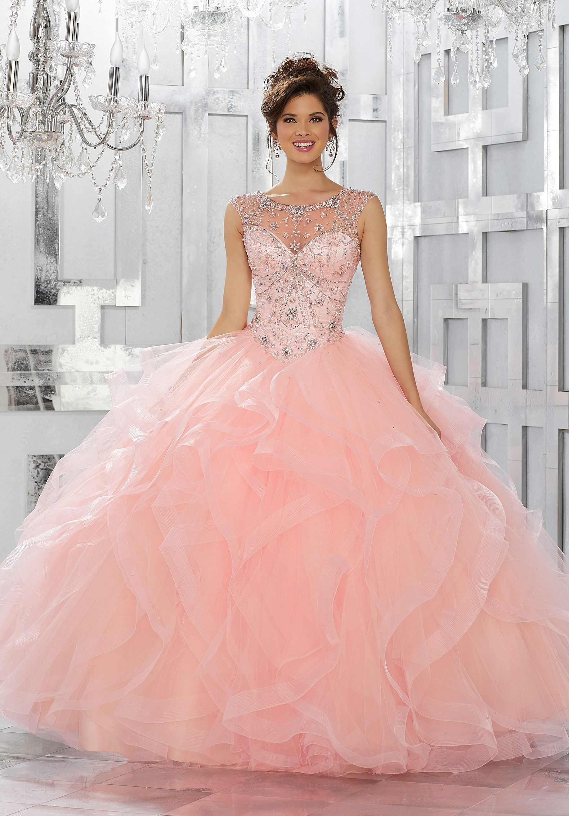 Beaded Illusion Quinceanera Dress by Mori Lee Vizcaya 89141