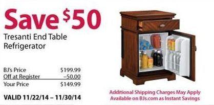 Marvelous Tresanti End Table Refrigerator   BJu0027s Wholesale Club