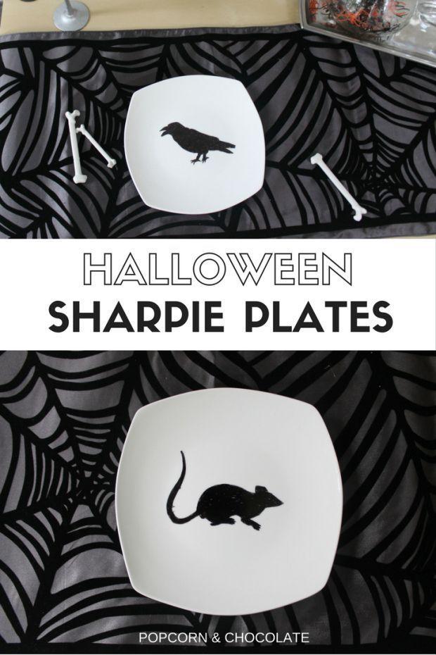 Halloween Sharpie Plates #sharpieplates Halloween Sharpie Plates | Popcorn & Chocolate #sharpieplates Halloween Sharpie Plates #sharpieplates Halloween Sharpie Plates | Popcorn & Chocolate #sharpieplates