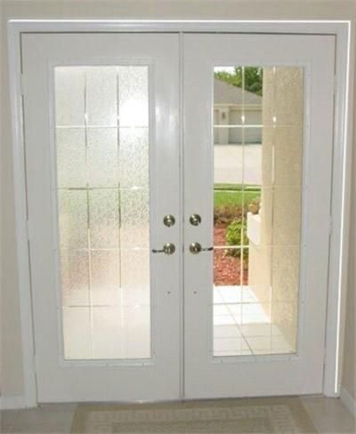 Clear Ripple Gl Window Film Lied To French Doors In Sections Compliment The Preexisting Pattern