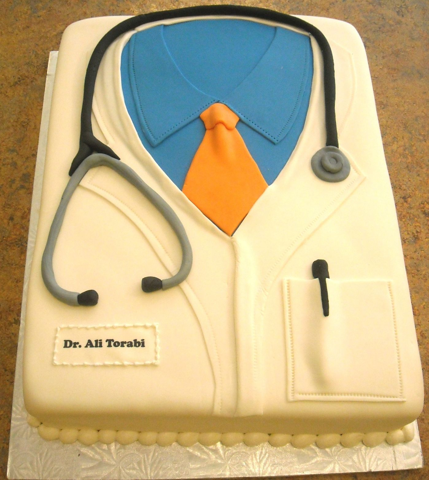 Dentist Lab Coat Cake
