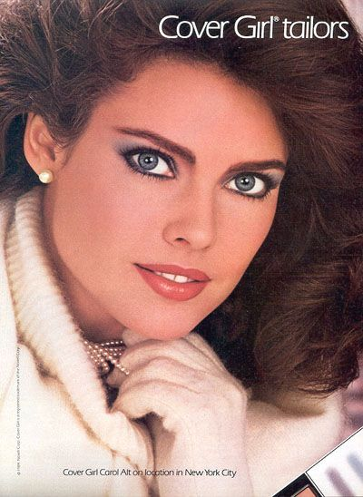 80 s supermodel carol alt for cover girl cover girl pinterest