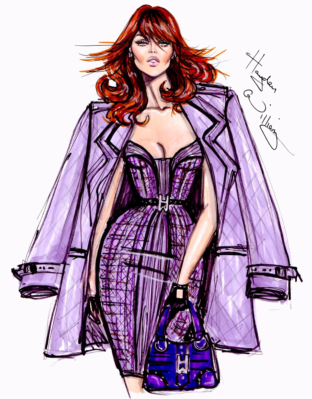 #Hayden Williams Fashion Illustrations #'Purple Reign' by Hayden Williams