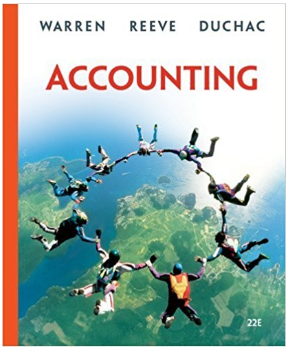 Accounting 22nd Edition Carl S Warren Textbook Answers Managerial Accounting Financial Accounting Accounting