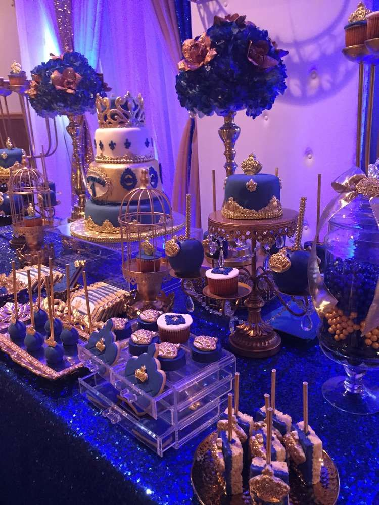 royal prince birthday party ideas dessert tables on. Black Bedroom Furniture Sets. Home Design Ideas