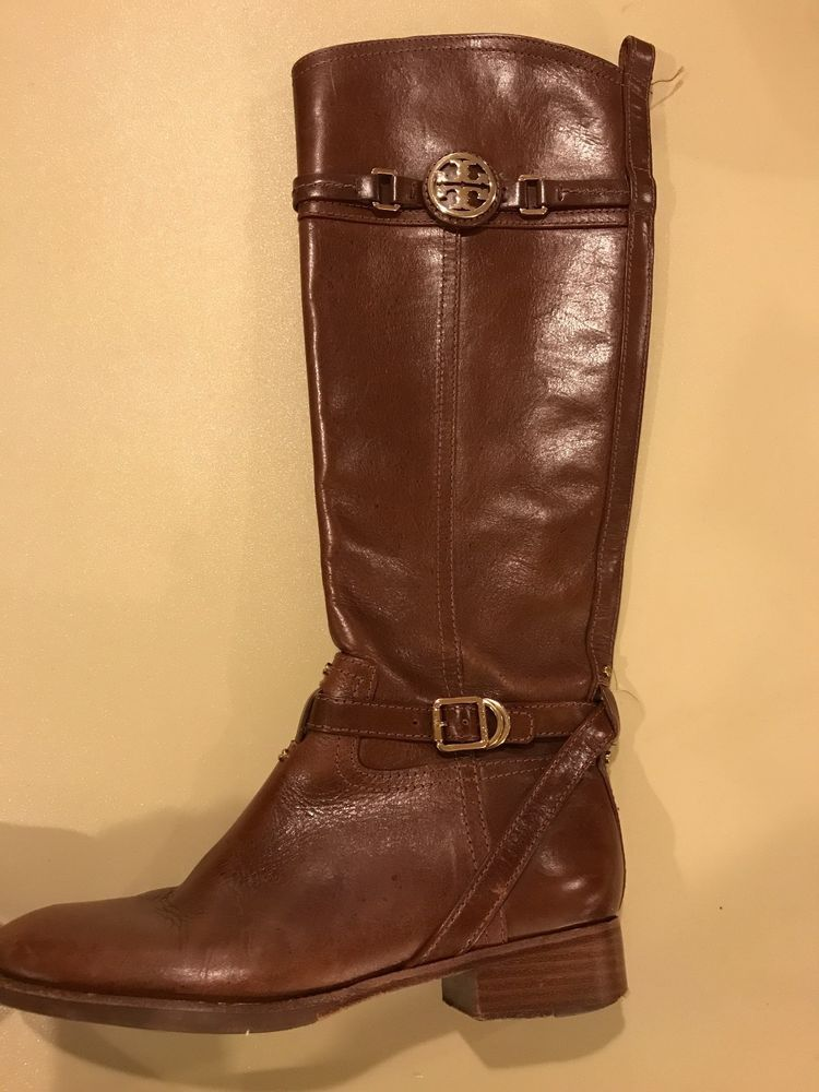 979ffe930422 Tory Burch Brown Leather Riding Boots Women Size 7  fashion  clothing  shoes