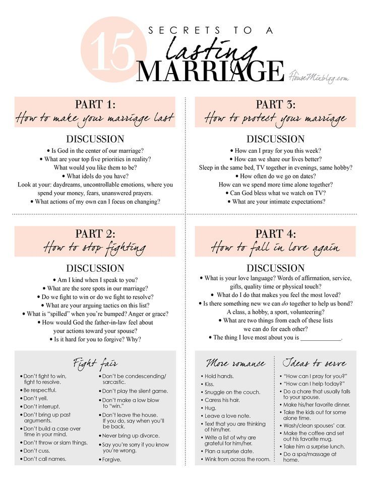 15 secrets to a lasting marriage: questions and conversation to have with your spouse