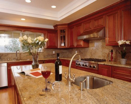 Redwood Cabinets Google Search Quartz Kitchen Countertops Granite Countertops Kitchen Wood Kitchen Cabinets